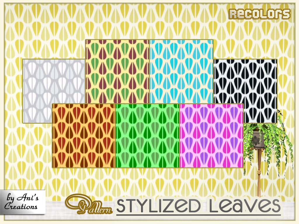stylized leaves pattern   ani s creations sims