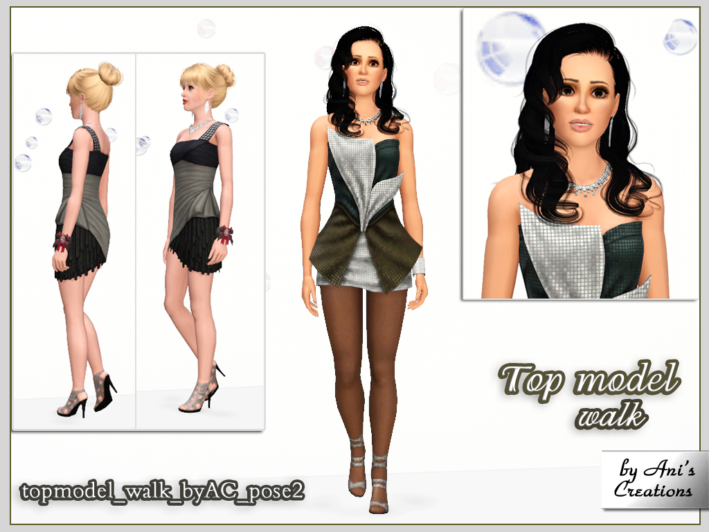 Top Model Walk Pose Set Ani S Creations Sims